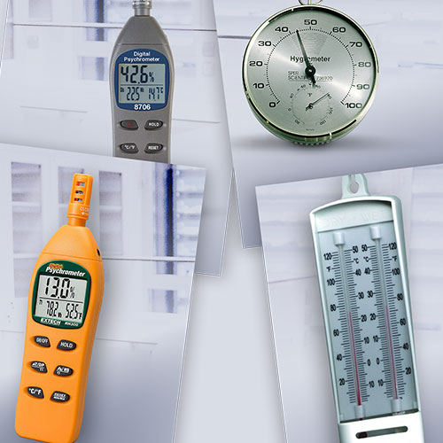 What is the difference between a hygrometer and a psychrometer