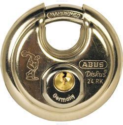 Discus type padlock