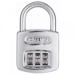 12611 160 Series Steel/Chrome 3-Dial Padlock