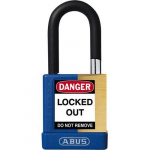 "1-1/2"" Shackle Solid Brass Padlock, Blue"