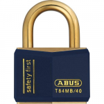 Weatherproof Brass Padlock Keyed Alike Blue