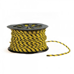 Black and Yellow Barricade Rope, Roll of 600'