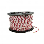 "5/16"" Red and White Barricade Rope, Roll of 600'"