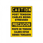 "20"" x 14"" Safety Sign ""Post Tension Cables ..."""