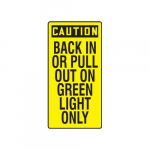 "24"" x 12"" OSHA Safety Sign ""Back In Or Pull ..."""