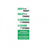 "74"" x 28"" Safety Banner ""Safety Is The Priority..."""