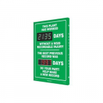 "28"" x 20"" Safety Scoreboard ""This Plant Has ..."""
