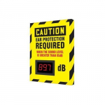"12"" x 10"" Decibel Meter Sign ""Ear Protection ..."""