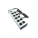 10 Nema 5-15R Outlets Power Strip