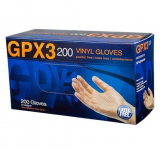 GPX3 200 Vinyl Powder Free Industrial Gloves, Small