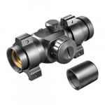 Red Dot Scope w/ Weaver Style Rings, 1x/25mm
