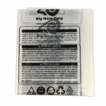 "19.5"" Dia. Clear Plastic Dust Collection Bag"