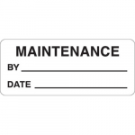 "0.625"" x 1.5"" Polyester Maintenance label"