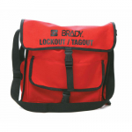 Nylon Black on Red Lockout Satchel