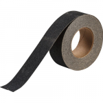 "2"" x 60' Polyester Anti-Skid Grit-Coated Tape, Black"