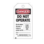 Tag: Danger: Do Not Operate Do Not...