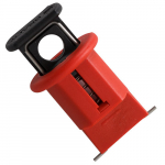 Miniature Circuit Breaker Lockout, Pin Out Wide, Red
