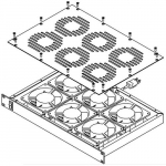 RM075-R2 BLACK BOX CORP RM075-R2 RACKMOUNT FAN TRAY