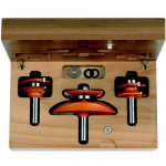 "1/2"" 3-Piece Cabinetmaking Set, Profile D"
