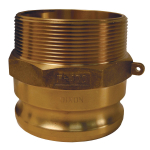 Global Cam & Groove Type F Adapter x Male NPT