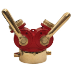 1/4 Turn Plug Type Wye Valve (Fire Hose Fitting)