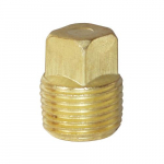 "1"" Brass NPT Threaded Square Head Plug"
