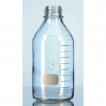 100mL Safety Coated Glass Lab Bottle with Red Cap