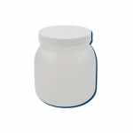1/2-Gallon High Density Polyethylene Wide Mouth Jar