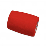 Sensi-Wrap 3in x 5 yds Self-Adherent Bandage Rolls, Red