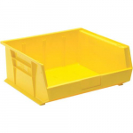 "16"" x 14"" x 7"" High Density Stackable Plastic Bin, Yellow"