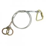 3' Carabiner Anchor/Vinyl-Coated Galvanized Cable