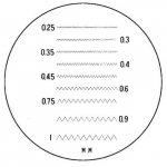 10X Pocket Optical Comparator Reticle #4