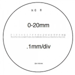 10X Pocket Optical Comparator Reticle #8