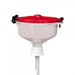 EZwaste Safety Funnel, HDPE, Red Lid