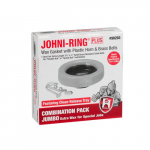 Johni Ring Wax Gasket with Plastic Horn & 3-1/2 x 1/4""