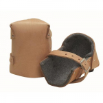 "1/2"" Thick Felt Leather Knee Pads, Pair"