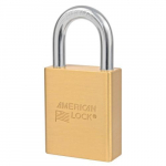 "1-3/4"" Brass Padlock, 1-1/8"" Shackle, No Cylinder"
