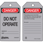 """Danger Do Not Operate"" Safety Tag"