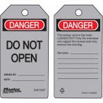 """Danger Do Not Open"" Safety Tag"