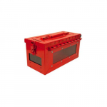 Portable Group Lock Box with Key & Side Window
