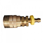 Hose Barb M Style Push On and Lock Coupler, 1/4""