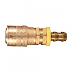 Hose Barb M Style Push On and Lock Coupler, 3/8""