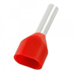 "#18 0.594"" Red 2 W.N. Twin Insulated Ferrule"