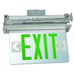 Housing Recessed Mount Edge Lit LED Exit Sign
