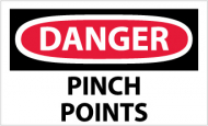 """Danger Pinch Points"" Label"