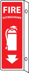 """Fire Extinguisher"" Vertical Sign"