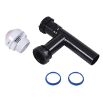 "Sure-Vent 1-1/2"" Black AAV Valve w/ ABS Tubular Adapter"