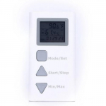 Temperature Humidity Data Logger Meter, White