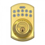 LockState Electronic Keypad Deadbolt, Brass