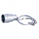 "3/4"" Plated Steel Dust Plug with Chain"